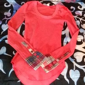 Free People plaid Cuffed Thermal(new)